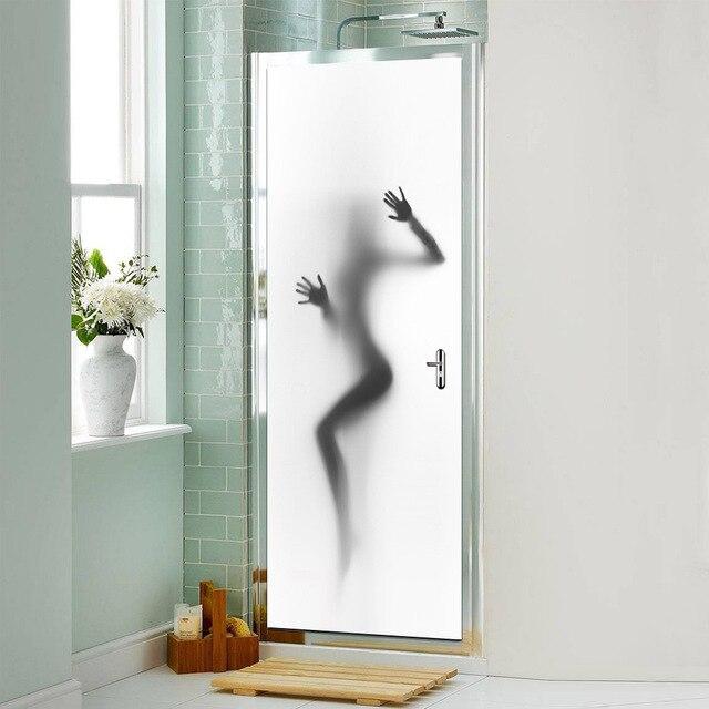 Hot Sexy Girl Bathroom Door Stickers Removable Pvc 3d Door Mural