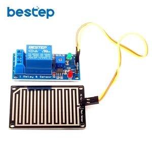 1 pçs 12 v raindrops controlador módulo de relé sensor chuva para arduino foliar umidade m35 monitor tempo