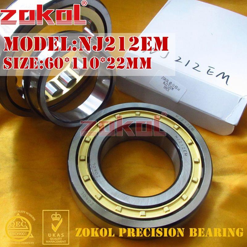 ZOKOL NJ212 E M bearing NJ212EM 42212EH Cylindrical roller bearing 60*110*22mm