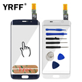 A+++ Touch Screen Digitizer For Samsung Galaxy S6 Edge G9250 G925 G925F Touch Sensor Glass Panel Sensor Parts Adhesive Tool Logo