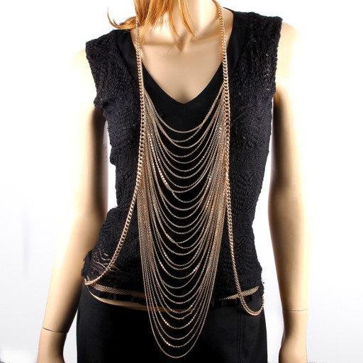 Frete grátis, Handmade Glamourosa Laço Corpo Cadeia de Acessórios Colar de Jóias vestidos de Noiva Acessórios De Noiva Desgaste da Noite de Gala