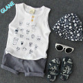 2017 New 2PCS Baby Boys Summer Sleeveless Shirt Tops + Shorts Set Kids Casual Outfits Sports Suit For Baby Kids Boy Clothes