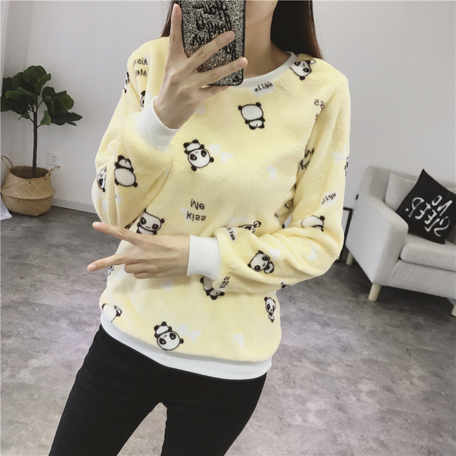 Women Autumn Winter Sweater 2018 Casual Long Sleeve Female Pullover Imperial Crown and Diamond Print Loose Top Women's Clothing 4