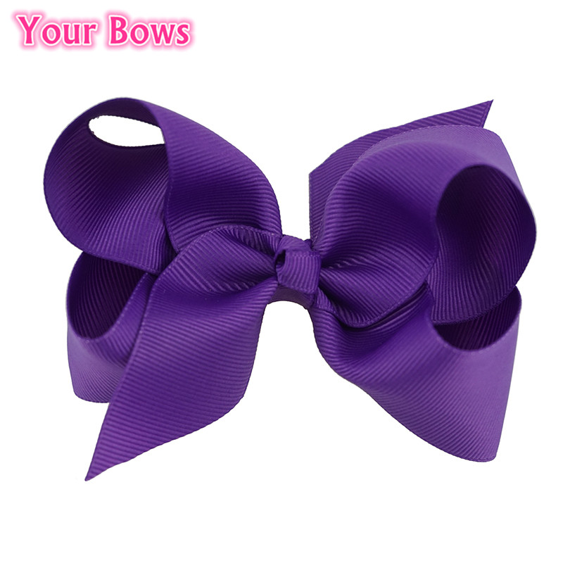 (20Pcs/Lot) 4 Inches Infant Toddler Girls Hair Bows 20 Colors Bows Hair Clips Grosgrain Ribbon Boutique Bows Hair Accessories