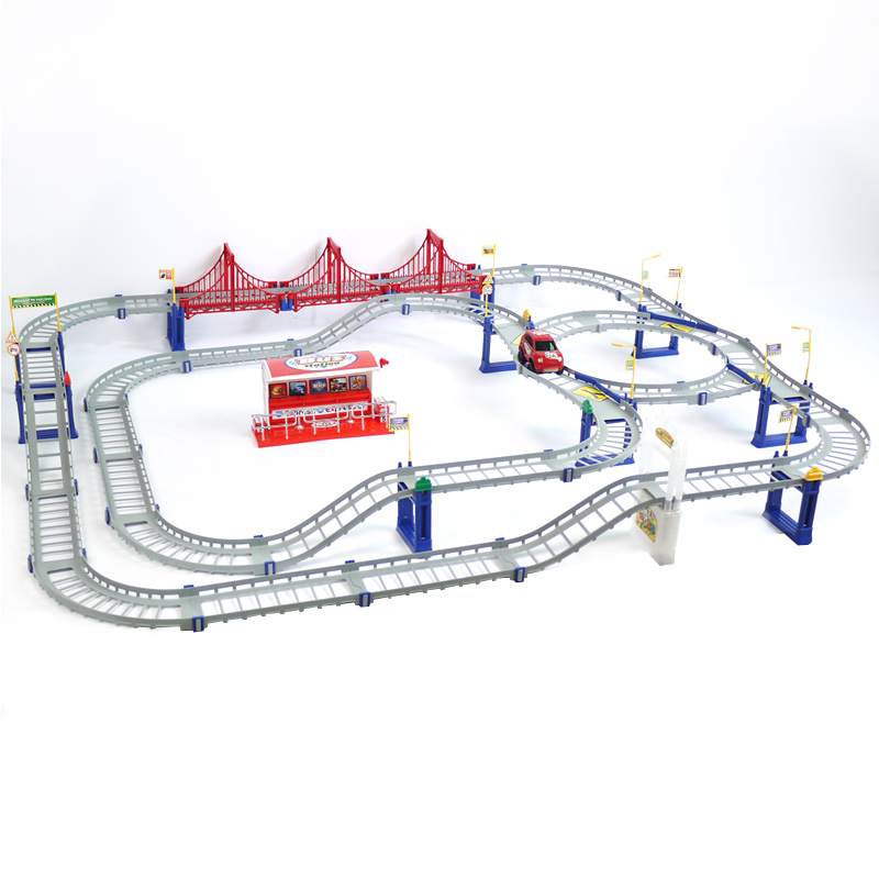 2018 Hotsale New Hot Excitation speed track car racing toy car male children's electric toys most of the track set in stock