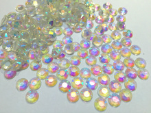 Transparent Crystal clear AB Color Facets Flat Back Resin Rhinestone 2mm 3730b4c1c7ac
