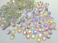Transparent Crystal clear AB Kolor Oblicza Mieszkanie Powrót Żywica Rhinestone 2mm, 3mm, 4mm, 5mm, 6mm Gems Nail Art Decoration