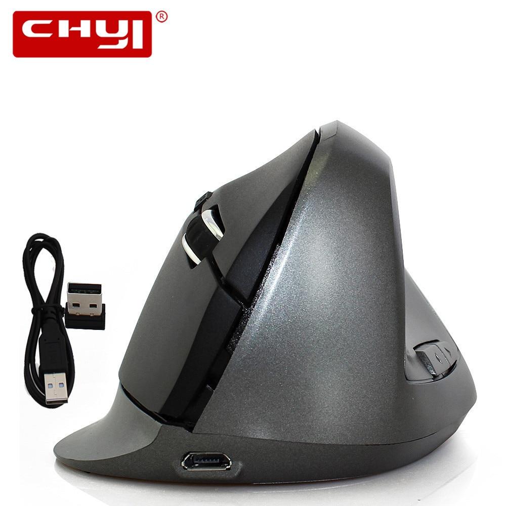 Nabíjecí bezdrátová myš USB 1600DPI nastavitelná USB 2.0 přijímač Počítačová myš 2.4GHz Ergonomické optické myši pro notebook PC
