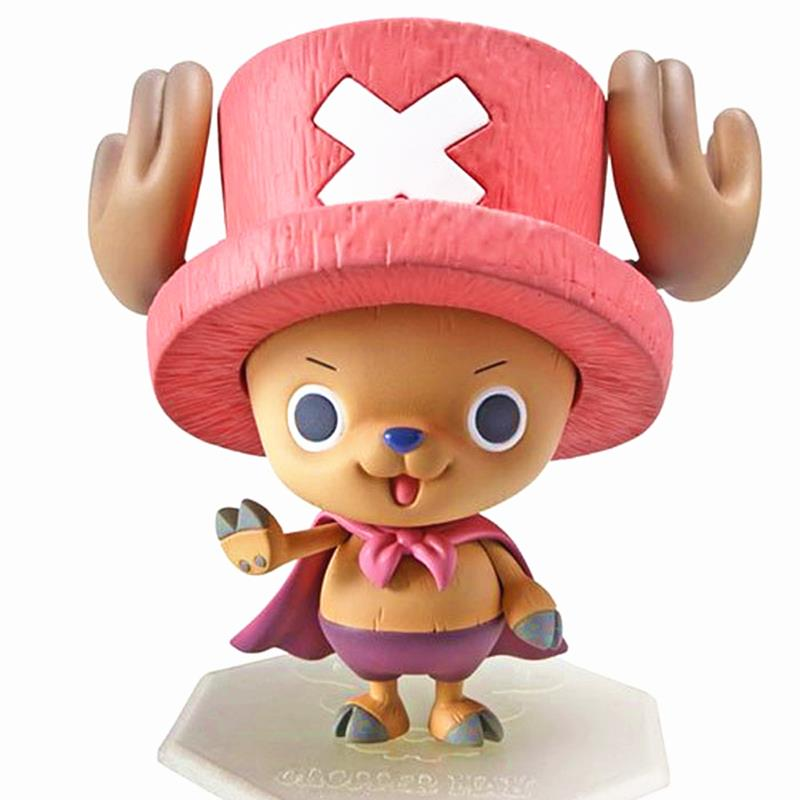 Anime One Piece Superman Tony Chopper Plating Cherry Pink Hat Action Figure Japan Anime Kids Toys For Children 10cm Juguetes loz one piece tony tony chopper building bricks japanese anime action toys figure kids children gift blocks toy