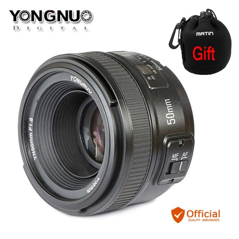 YONGNUO YN50mm F1.8 MF AF Lens YN50 Aperture Auto Focus for NIKON D7500 D7200 D5600 D5200 D750 D500 D5 D610 D90 DSLR Camera