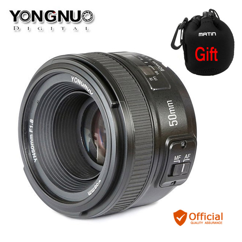 YONGNUO yn50mm F1.8 MF объектив AF yn50 диафрагма автофокусом для Nikon d7500 d7200 d5600 D5200 d750 d500 D5 D610 d90 DSLR Камера