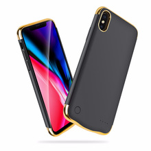 6000/5500mAh Slim Veneer shockproof Battery Charger Case For iPhone XR XS Max X Rechargeable Power Bank Back clip battery