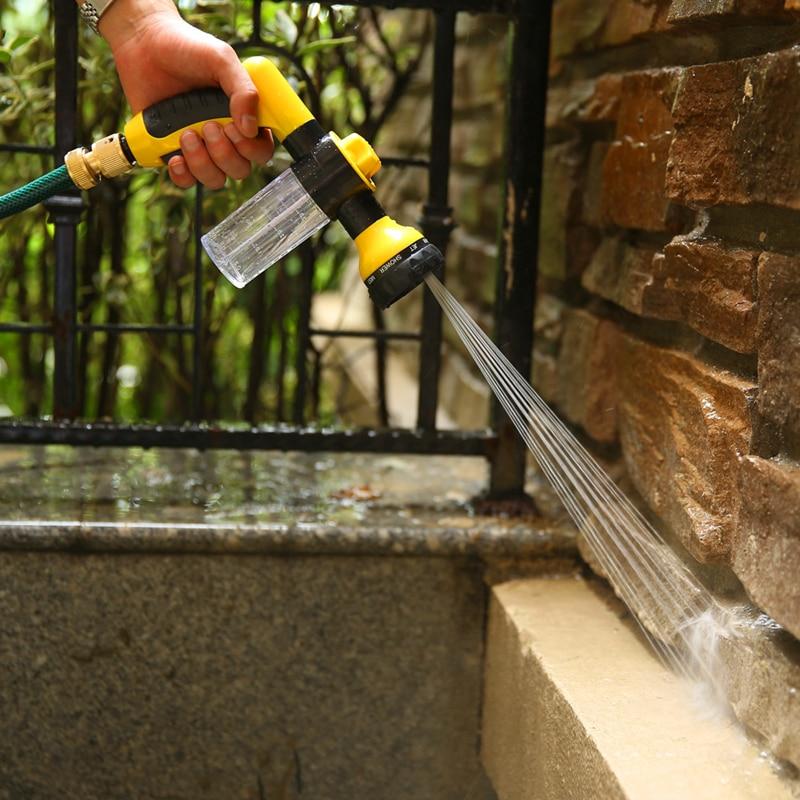Pistola de agua de espuma multifunción para coche de alta presión, pistola de agua ajustable, boquilla de pulverización, herramientas de jardín