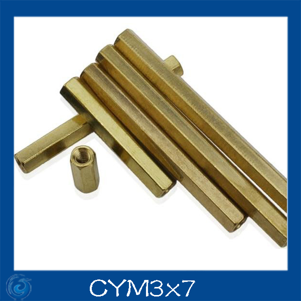 M3*7mm Double-pass Hexagonal Screw nut Pillar Copper Alloy Isolation Column For Repairing New High Quality