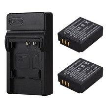 2x 1300mAh Batteries CGA S007 CGR S007E Rechargeable Li ion Battery Pack For Panasonic Lumix DMC