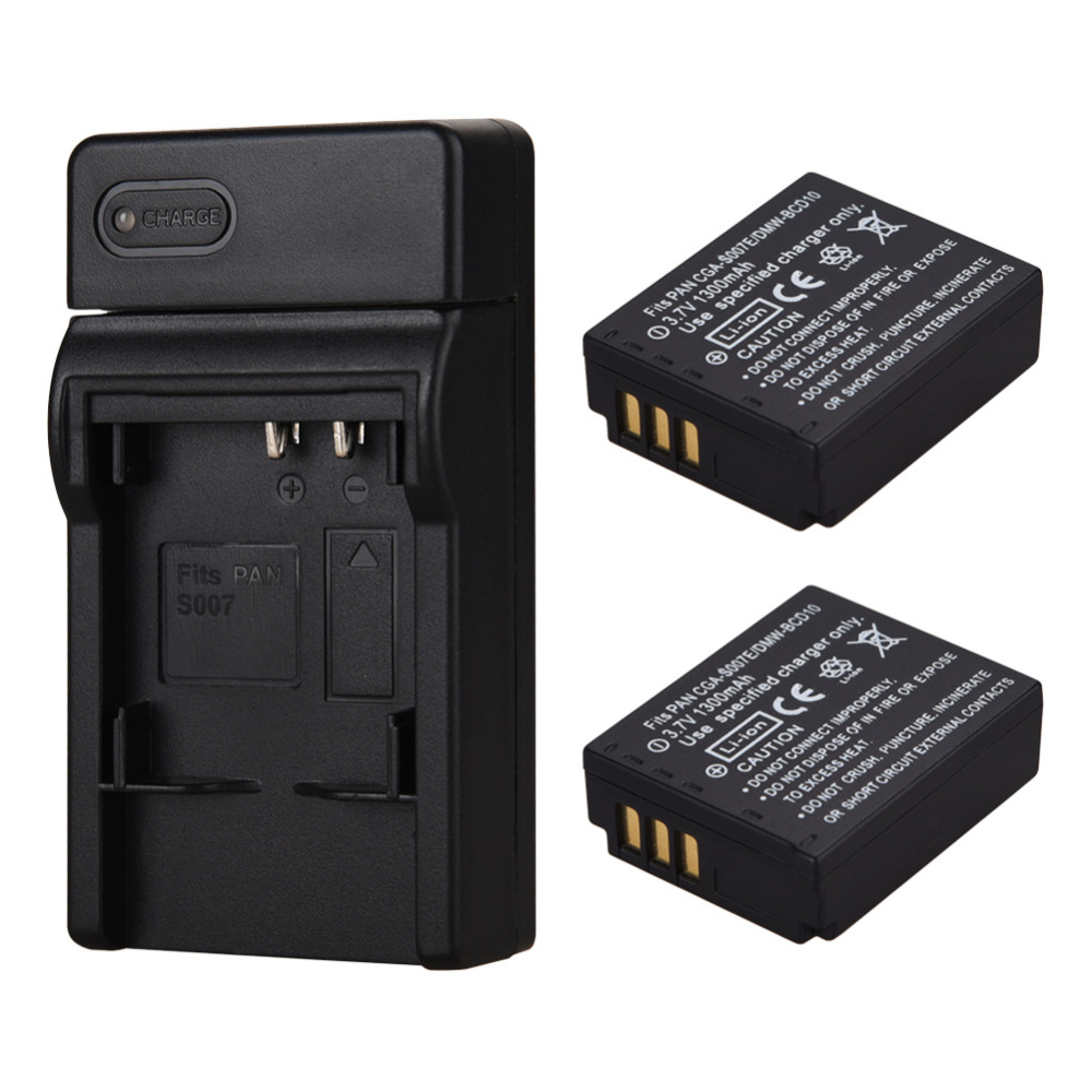 2x1300 mah Batterie CGA-S007 CGR-S007E Ricaricabile Li ion Battery Pack Per Panasonic Lumix DMC TZ1 TZ2 TZ3 TZ4 TZ5 TZ50 TZ152x1300 mah Batterie CGA-S007 CGR-S007E Ricaricabile Li ion Battery Pack Per Panasonic Lumix DMC TZ1 TZ2 TZ3 TZ4 TZ5 TZ50 TZ15