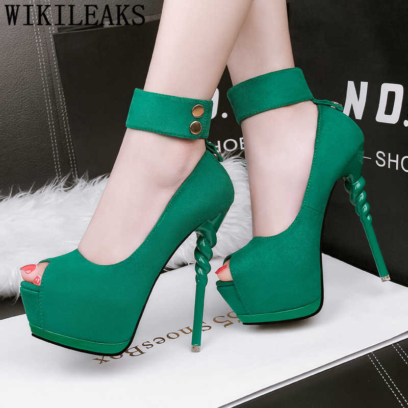 Stilettos ayakkabı kadınlar için peep toe topuklu düğün ayakkabı gelin ayak bileği kayışı topuklu mary jane ayakkabı kadın platformu yüksek topuklu