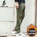 Pioneer Лагерь новая армия зеленый теплые брюки мужчины марка одежды осень зима толстые случайные штаны мужчины качество флис брюки 699094