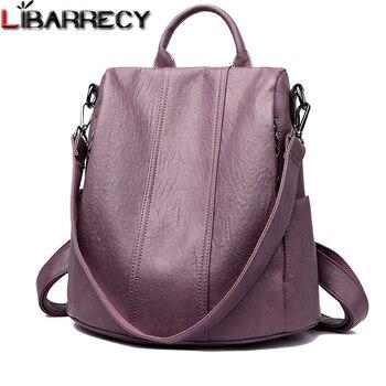 553afaec38df Модный простой рюкзак женские водонепроницаемые Рюкзаки для женщин ...