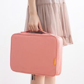 Waterproof Nylon Large Travel bag Portable Documents Holder Bag Capacity Organizer Bags For Certificate Ipad Digital - discount item  32% OFF Travel Bags