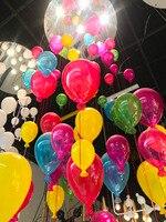 Красочный воздушный шар потолочный светильник светодиодный лампа, светильник для лестницы для девочки детская комната одежда для детского