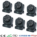 6pcs/lot Free&Fast Shipping good quality led beam moving head light rgbw 12x12w the brightest beam disco lighting dj equipment
