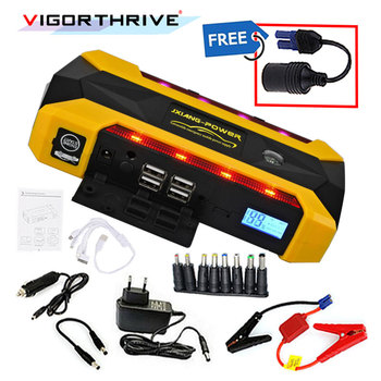 Car Jump Starter for Petrol car 600A Emergency Starting Device Power Bank Auto Battery Booster SOS Light Portable LCD Display