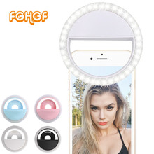 FGHGF Flash 36LED iluminación fotográfica Cámara regulable foto/estudio/fotografía y vídeo Selfie Ring Light para iPhone 7 Samsung