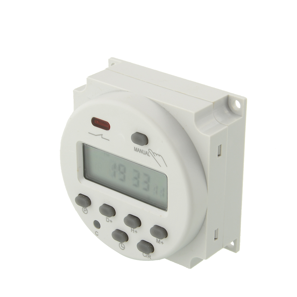 Electronic LCD Digital Programmable Timer Day Hour Minute Count For Home 220V