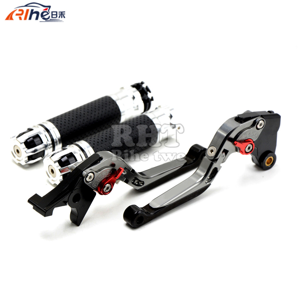 CNC Handlebar Motorcycle Handle Bar Grips Adjustable Clutch Brake Levers For SUZUKI GSXR750 GSX-R 750 GSXR 750 06 07 08 09 10 K6 shivaki shap 3010r
