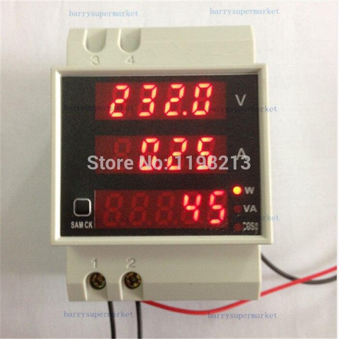 Line Powered Digital Voltmeter : Aliexpress buy digital voltage current power meter