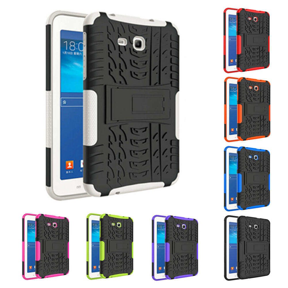 Tablet PC Drop Support Case Heavy Duty Rugged Impact Hybrid Kickstand Holder Bracket for Samsung 2016 GALAXY Tab 7.0 a. (T280) tire style tough rugged dual layer hybrid hard kickstand duty armor case for samsung galaxy tab a 10 1 2016 t580 tablet cover