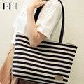 Popular female Stripe Beach Canvas tote bag universal Ladies big Shoulder handbags Shopping Bag for housewife Casual bag Bolsa
