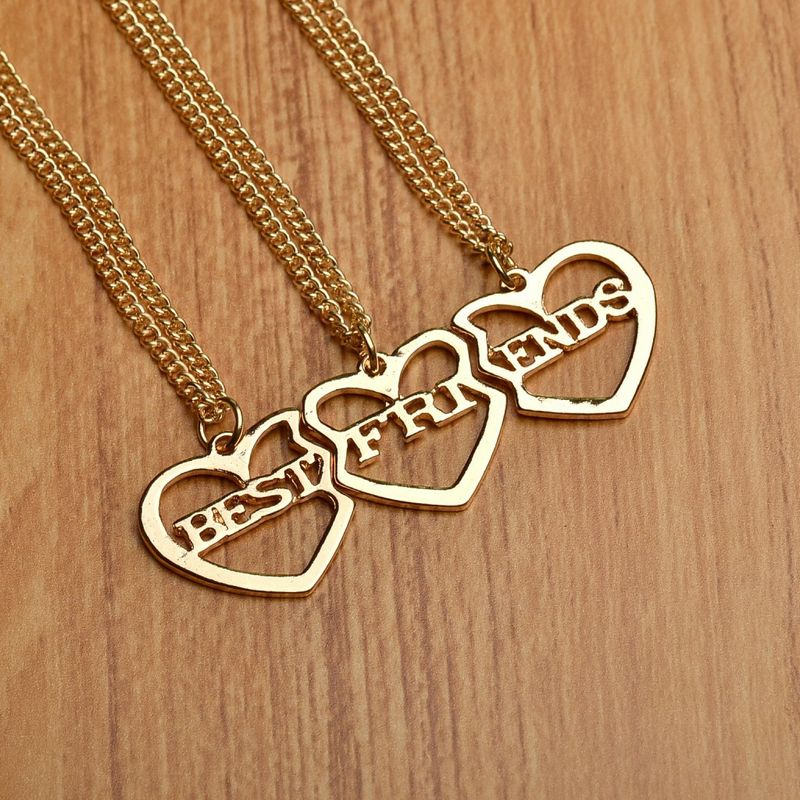 Friendship Pendant Necklace Fashion 3 pcsset heart shaped best friends necklace friendship fashion 3 pcsset heart shaped best friends necklace friendship pendant necklace friend gift collar necklace in pendant necklaces from jewelry accessories audiocablefo
