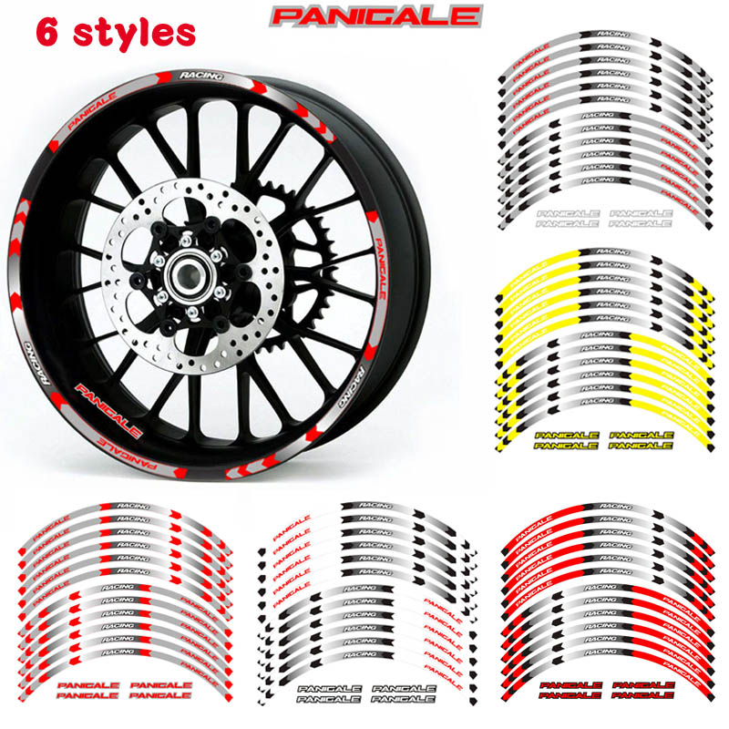 Hot Sell High Quality Motorcycle Wheel Decals Reflective Stickers Rim For DUCATI PANIGALE 1199/S/Tricolor 899  1299/S/R 959