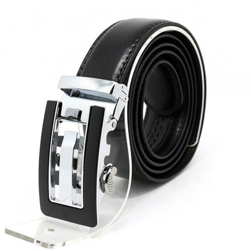 High grade leather belt Men s Automatic buckle belt Fashion leisure cow split leather Men s