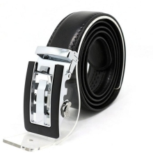 High-grade leather belt Men's Automatic buckle belt Fashion leisure cow split leather Men's Belts