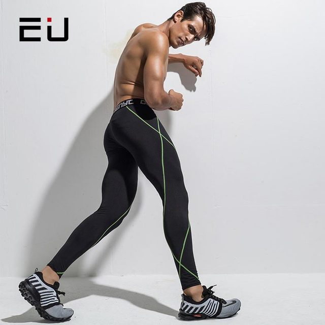16bf29e0af22 EU Running Tights Men Compression Leggings Sport Tights for Men Sport  Fitness Gym Leggings Mens Running