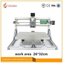 2632 t-typ Schraube PCB Fräsmaschine arduino DIY CNC Holz arbeitsbereich 26*32 cm PVC Mühle stecher Unterstützung GRBL control