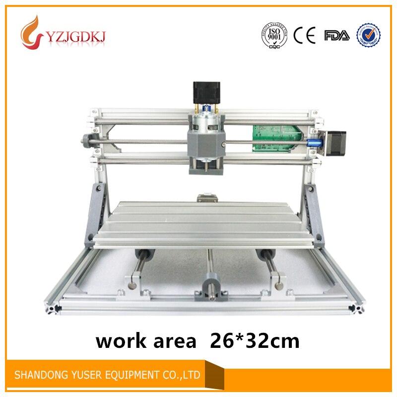 2632 T-type Vis PCB Fraiseuse arduino DIY CNC travail Du Bois zone 26*32 cm PVC Moulin graveur Soutien GRBL contrôle