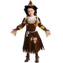Umorden Child Kids Teen Girls Wizard of Oz Scarecrow Cosplay Costume Halloween Purim Carnival Mardi Gras Costumes Fancy Dress