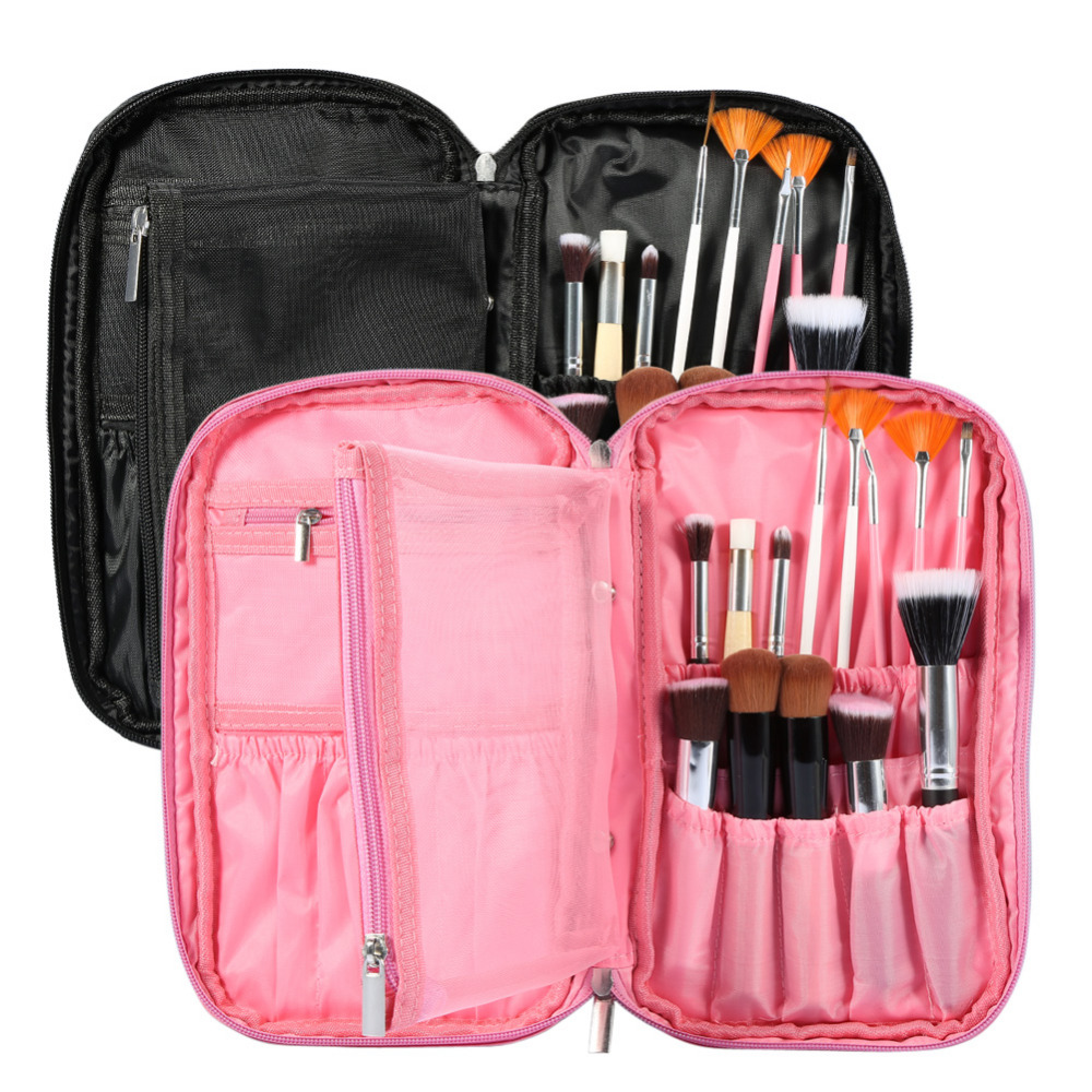 Makeup Brushes Bag Cosmetics Brushes Professional Bag Canvas Pouch Portable Handbag Bag Travel Ladies Pouch Make Up Brush Bags 23 pieces professional versatile portable makeup brush set cosmetics brushes kit make up maquillaje with grass green pouch bag