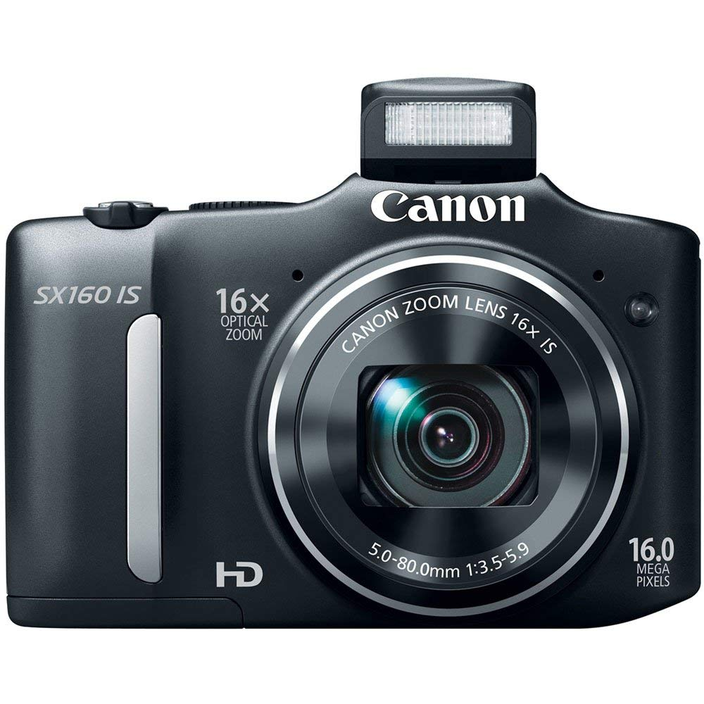USED,Canon SX160 IS 16.0 MP Digital Camera with 16x Wide-Angle Optical Image Stabilized Zoom with 3.0-Inch LCD