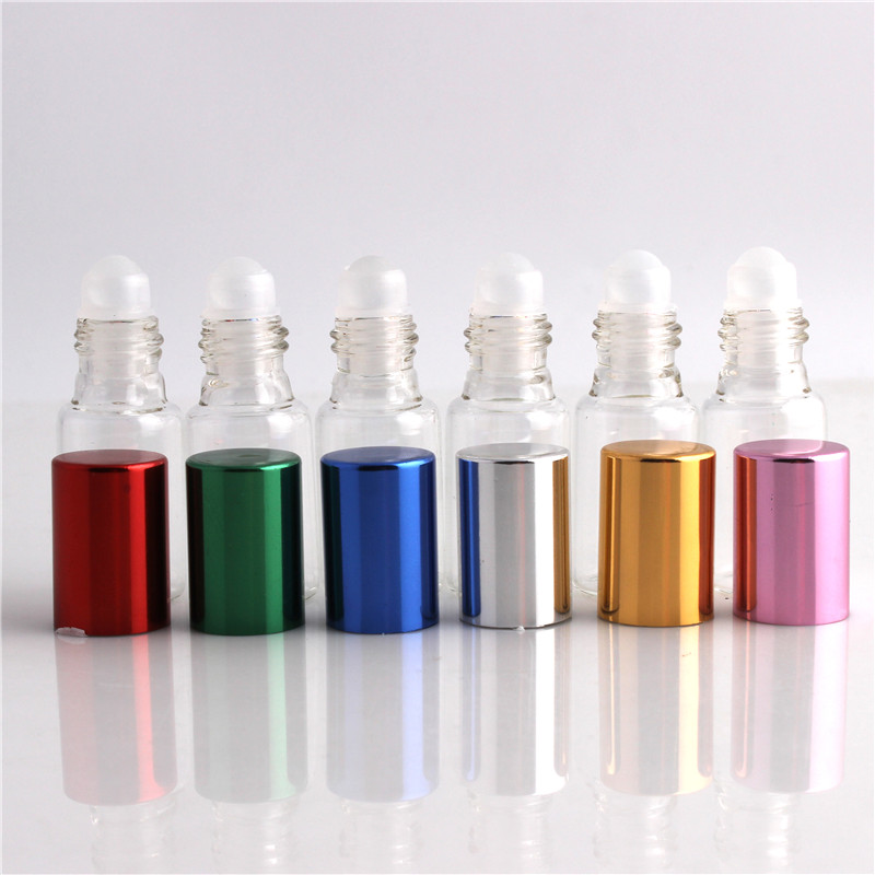 3 Pcs a Lot 10ml Glass Bottle,Cosmetic Bottles Go Beads Cosmetics Packaging Oil Bottles Empty Refillable Bottles With 6 Colours