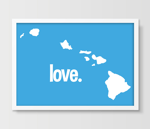US $9.6 50% OFF|HAWAII Map Print Typography Map Art US States Poster Map HI  State Print picture painting for Housewarming Gift Aloha State-in Painting  ...