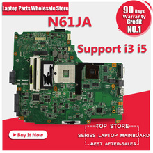 free shipping for ASUS N61JA laptop motherboard mainboard N61JA  support i3 I5 cpu 100% Tested & Guaranteed