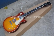 top quality factory LP standard maple body Cherry Red Burst Tiger Flame electric guitar musical instrument wholesale&Retail 1111