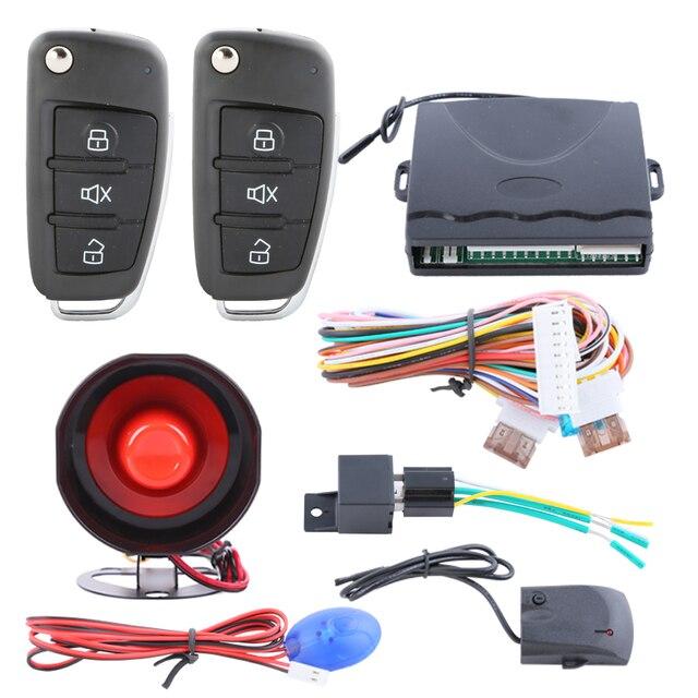 Universal car alarm system with flip key remote control central door locking keyless entry remote trunk  sc 1 st  AliExpress.com & Universal car alarm system with flip key remote control central door ...