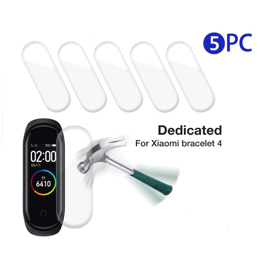 5Pcs Hydrogel Protective Tempered Film for Xiaomi Mi Band 4 Protection Film Full Screen Permeability Film HD Explosion(China)