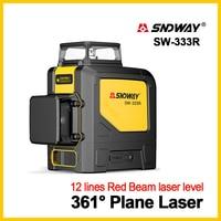 SNDWAY Laser Levels Laser Level 360 Degree Green Laser Level 3D Rotary Self Leveling Vertical Horizontal 12 lines Laser Leveler